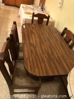 1950's Kitchen Trestle Table and Chairs