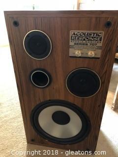 Pair of Acuoustic Response Series 707 Speakers