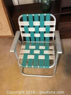 1940's Aluminum Deck Chair in marvelous condition.