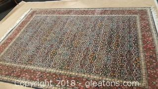 Fine Vintage Turkish Hereke Hand Knotted Silk And Wool Area Rug