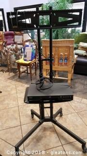 Commercial T.V./DVD Stand W/Casters Portable
