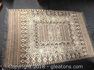 Rug Hand Knotted Wool Low Price Muted Southwest Design