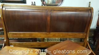 Ethan Allen Wood Sleigh Bed KING - Very Good Condition