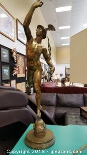 Antique Replica Flying Mercury Hermes Statue