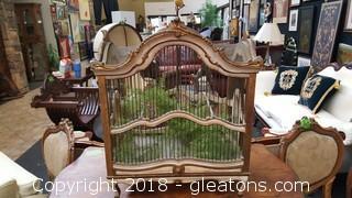 Vintage Wood / Metal Bird Cage