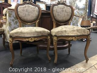 Pair of Venetian Style Chairs (A)