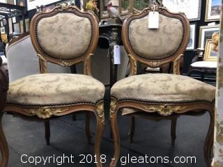 Pair of Venetian Style Chairs (B)