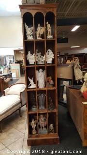 Display Cabinet Burled Vaneer