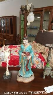 Vintage Asian Table Lamp