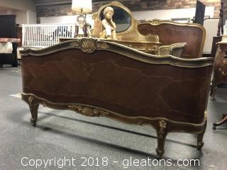 Very Fine Louis XVI Full Size Antique Bed