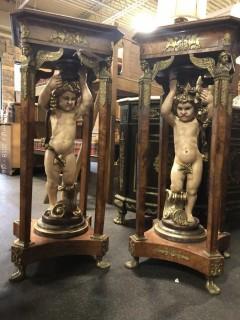 Pair of Iconic Cherub Pedestals