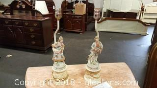 Pair of Victorian Table Lamps