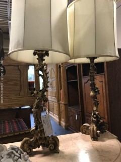 Pair of Rococco Lamps