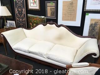 Antique Scroll Arm Sofa