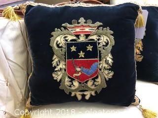 Royal Crest Applique Pillow (C)