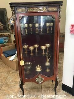 Antique Italian Curio  Cabinet