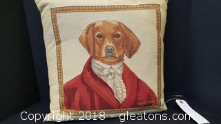 "18"" X 18"" Dog Pillow by Carol Lew"