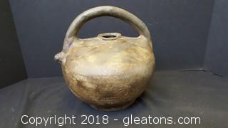 Handmade Unique Primitive Iton Kettle