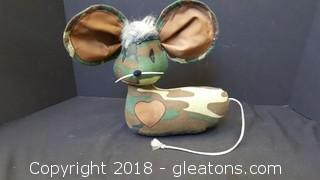 Door Stop Army Mouse