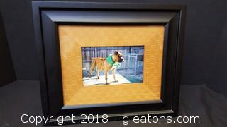 Frame with Boxer Picture
