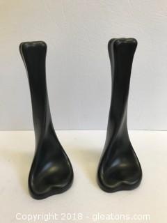 Two Elsa Peretti Terracotta Tiffany Candlesticks