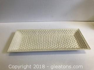 "Tiffany & Co. ""Tiffany Weave"" Platter"