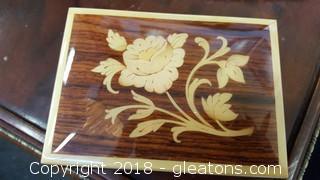Vintage Isle Of Capri Multi - Wooden Inlay Trinket Box