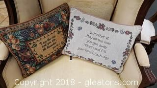 Set Of (3) Pillows (2) Tapestry (1) Small