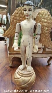 Handmade/Painted Wooden Angel