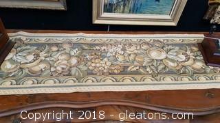 """Handmade 120"""" Tapestry Table Runner"""