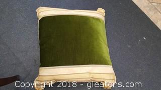 Pair Of Large Handmade Pillows Tassels Beautiful Trim
