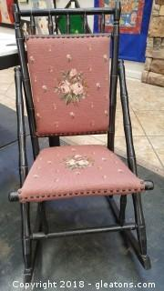 Rocking Chair Embroidered Vintage