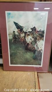 "The Gold Metal Frame Surrounds Howard Pyle's ""The Nation Makers"" Print"