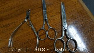 Set Of Vintage Scissors And Nippers