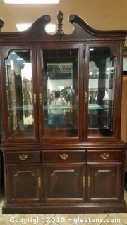 2 Piece China Cabinet  (A)