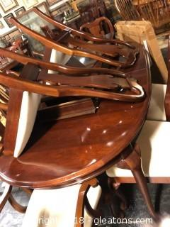 Formal Dining Set Table with 2 Leaves and 8 Chairs