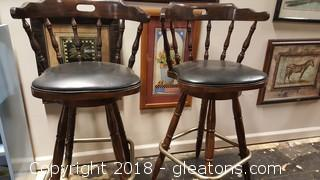 Pair Of Captain Bar Stools