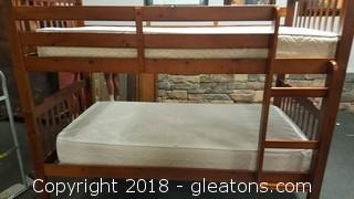 Twin Size Bunk Beds W/Mattresses