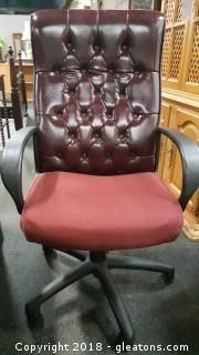 Executive Leather Office Desk Chair