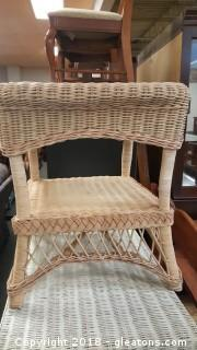 Wicker Accent Table/Night Stand