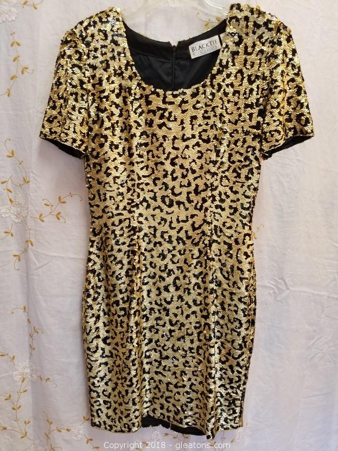 Gleatons The Marketplace Auction Vintage Formal Wear Item Gold