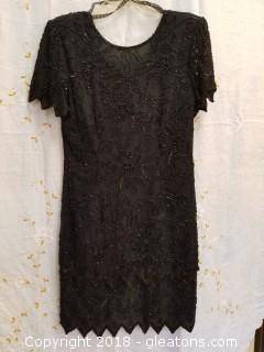 Black Cocktail Sequin Dress Stenay Size Small