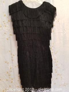 Black Flapper Dress Roberta Size 7/8