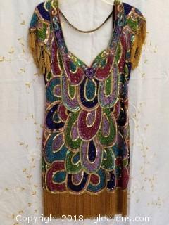 Vintage Multi - Colored Cocktail Dress Riazee Boutique Size M