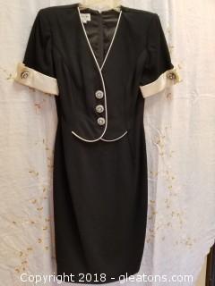 Black Cocktail Dress Norton Myles Size 4