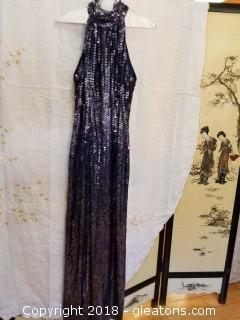Navy Sequin Gown Stenay Size 4