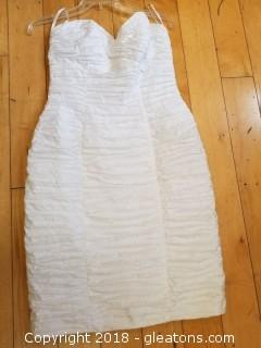 Strapless White Ruched Cocktail Dress BB/Collections Size 10