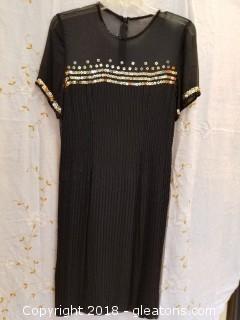 Silk Cocktail Dress A.J.Bari Size 8