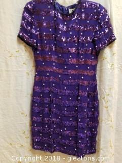 Purple Cocktail Dress Niteline Size 4