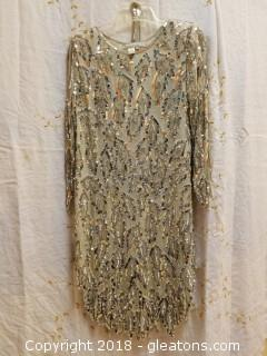Silver Sequin Dress Petite Preview Size 4